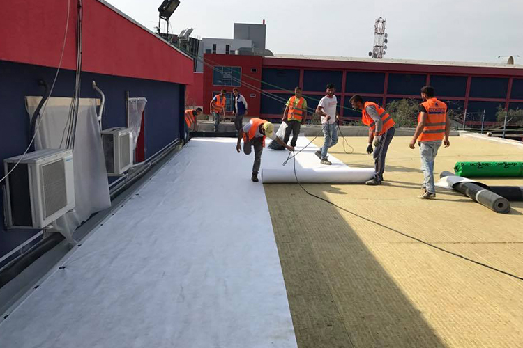 Waterproofing/Thermal insulation with PVC 550 square meters-TV KLAN
