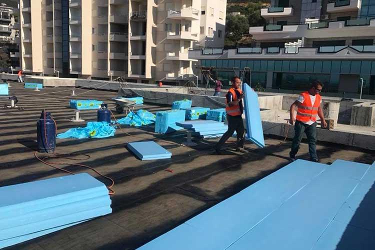 Waterproofing / Thermal insulation package 770 square meters