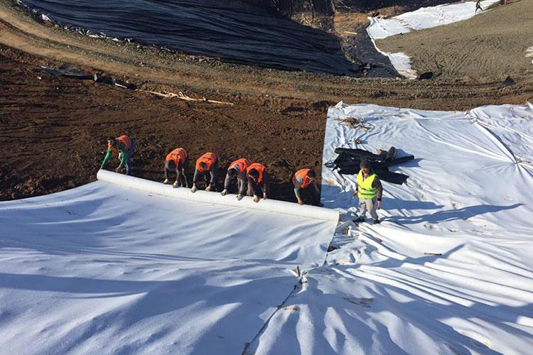 HDPE Geomembrane installation-Rresheni Landfill site